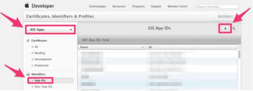 填写信息创建app ID 01
