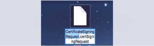 在桌面上看到下面的文件,证书请求文件完成